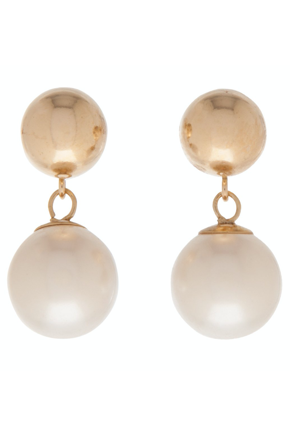 EN Clarity Stud Drop Earring - Gold & Pearl