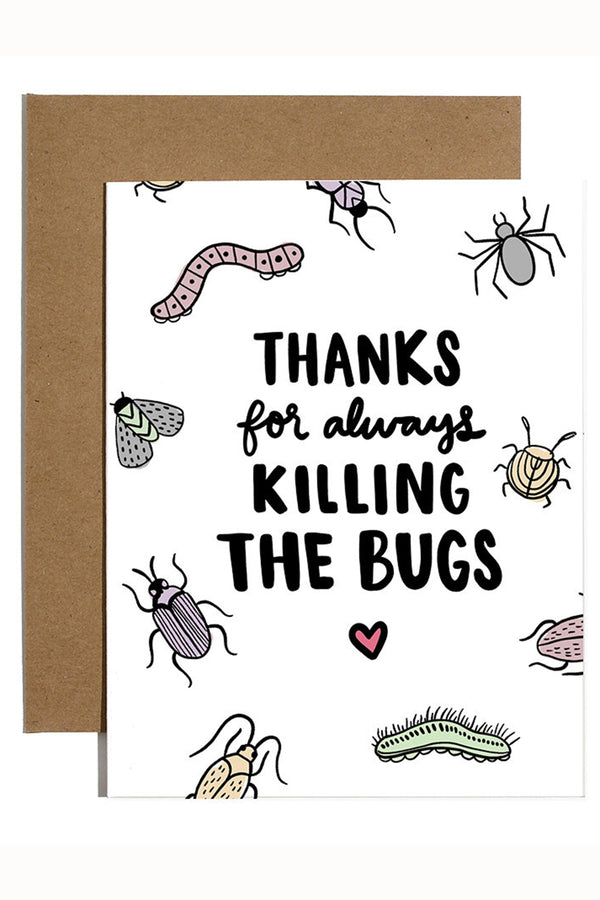 Valentine's Day Card - Killing the Bugs