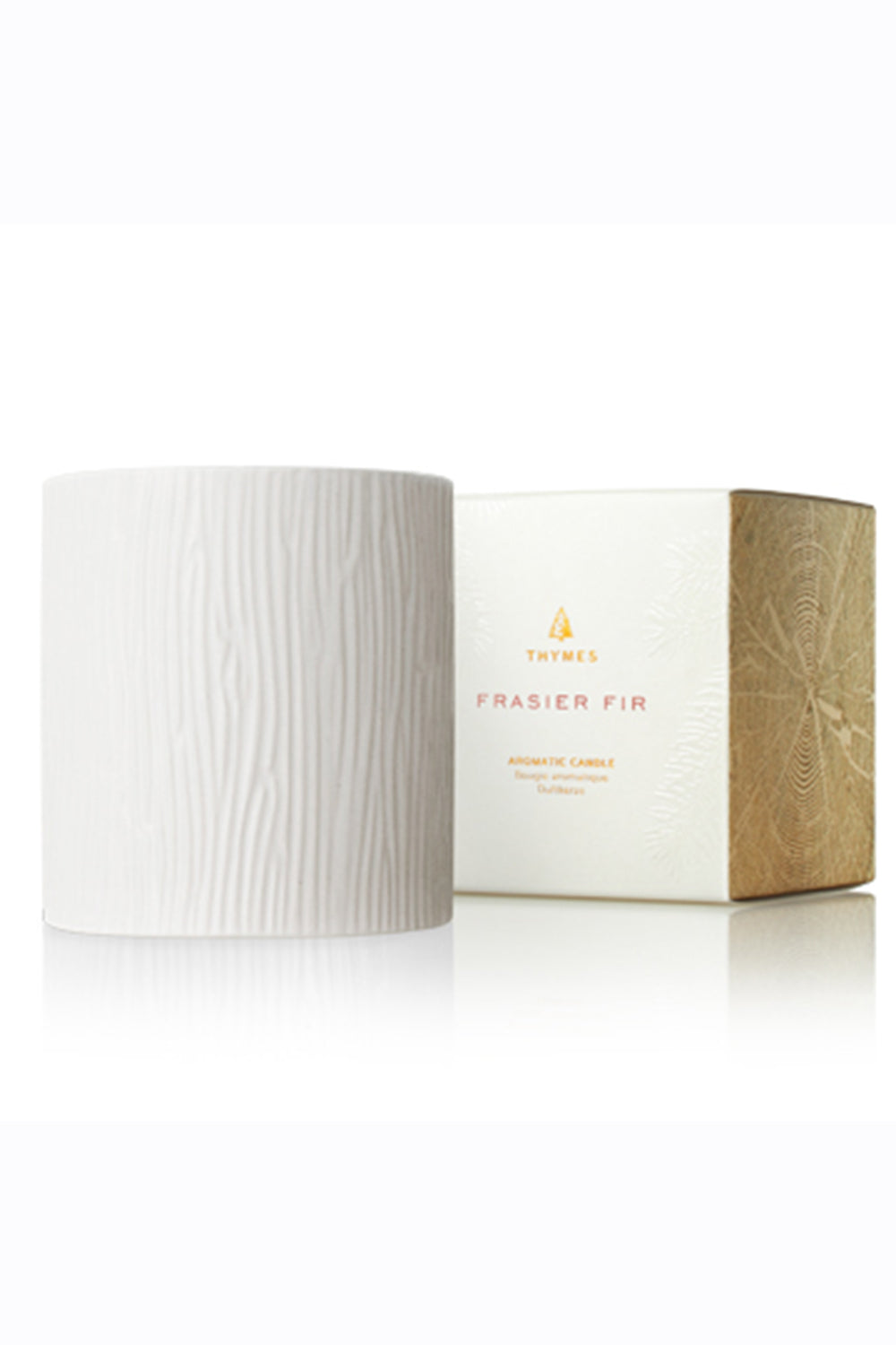 Frasier Fir Candle - Medium Ceramic White