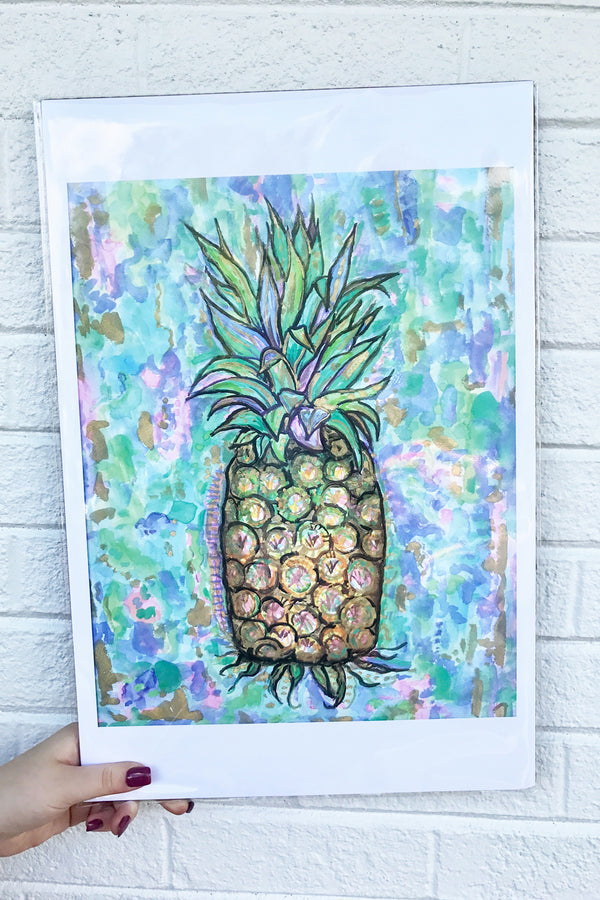 Unframed Collage - Pineapple