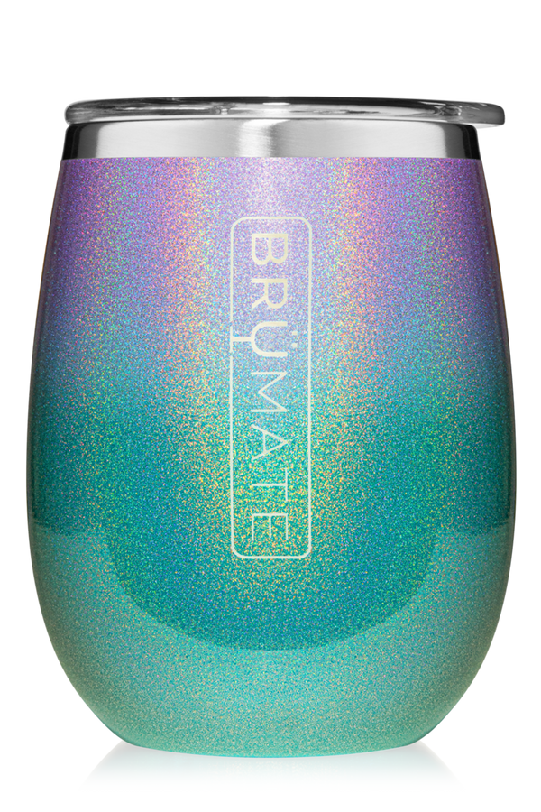 Uncork'd XL Stemless Wine Tumbler - Glitter Mermaid Ombre