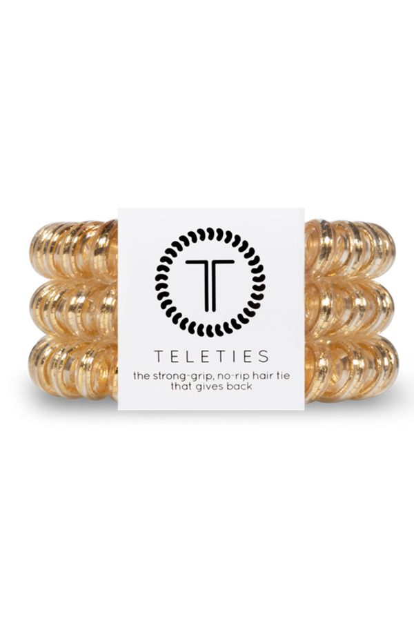 Teleties Hair Ties - Good as Gold