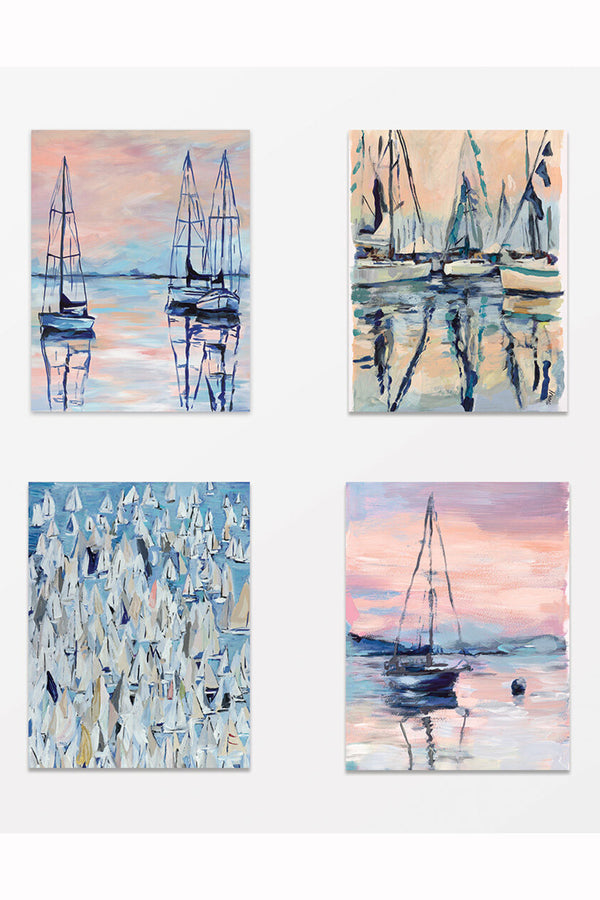 Hovell Assorted Card Pack - Sailboats