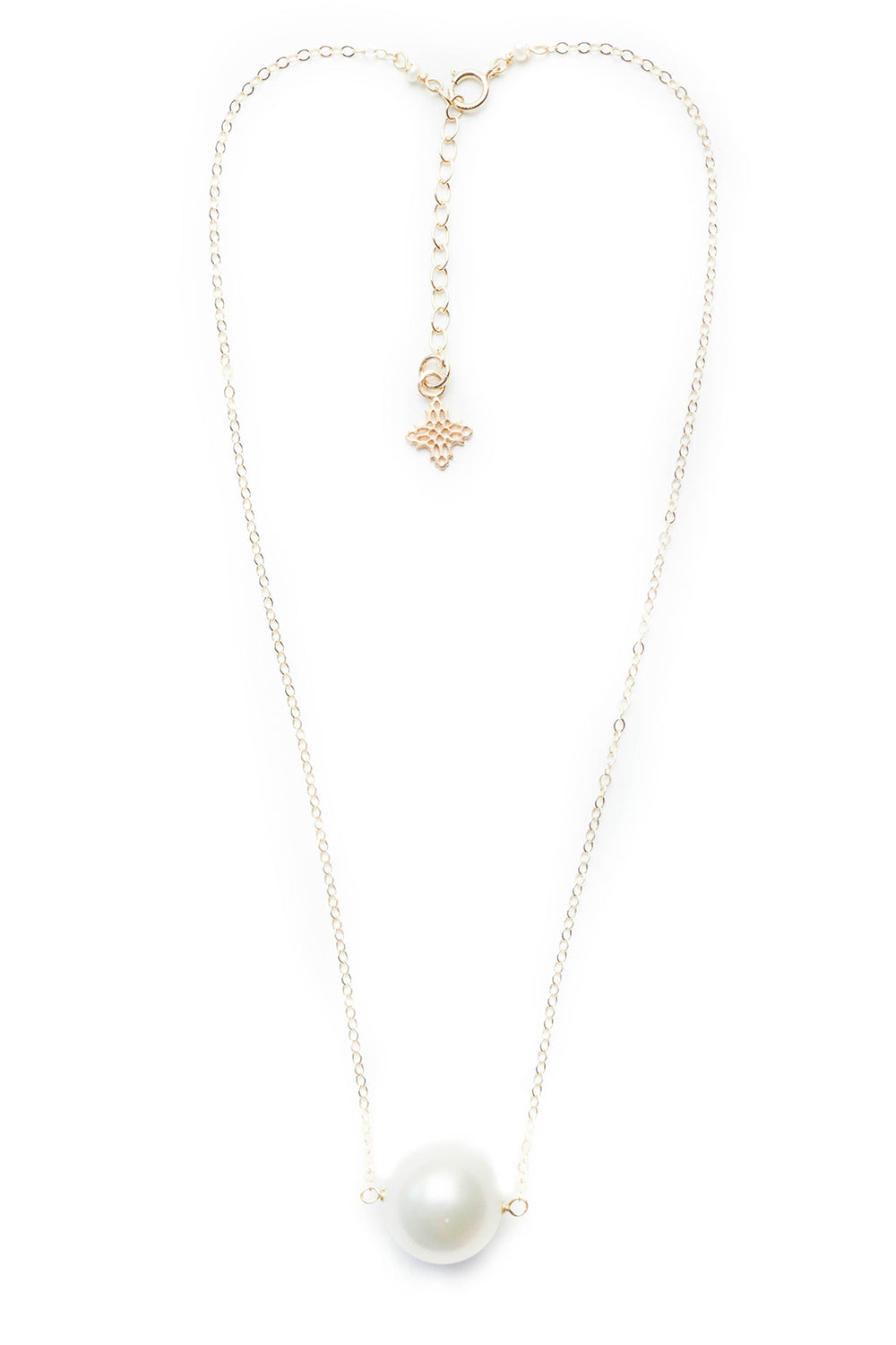 HZN Augusta Pearl Necklace - Gold