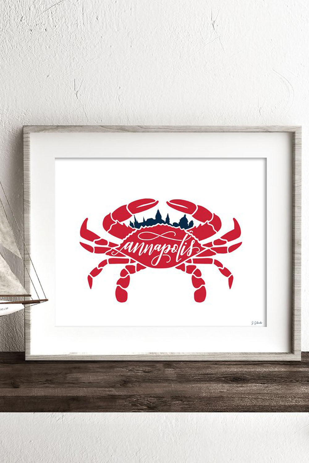 Locally Designed Print - Crab Annapolis Skyline