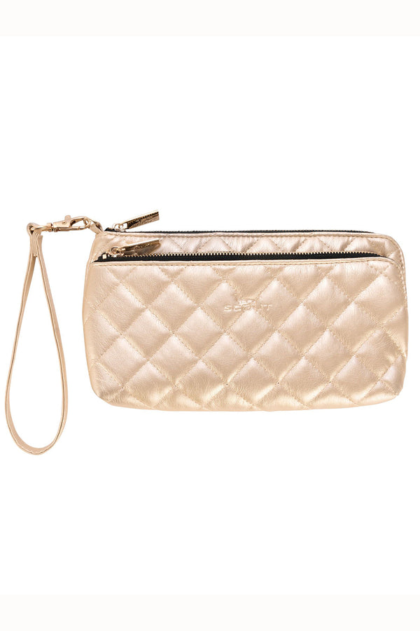 "Kelly Wristlet Wink - ""Quilted Gold"" H19"