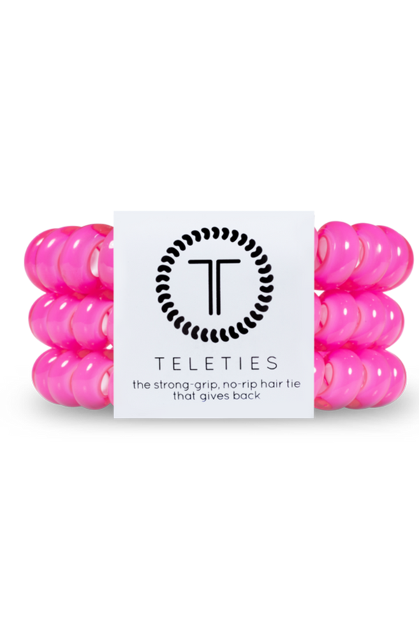 Teleties Hair Ties - Hot Pink