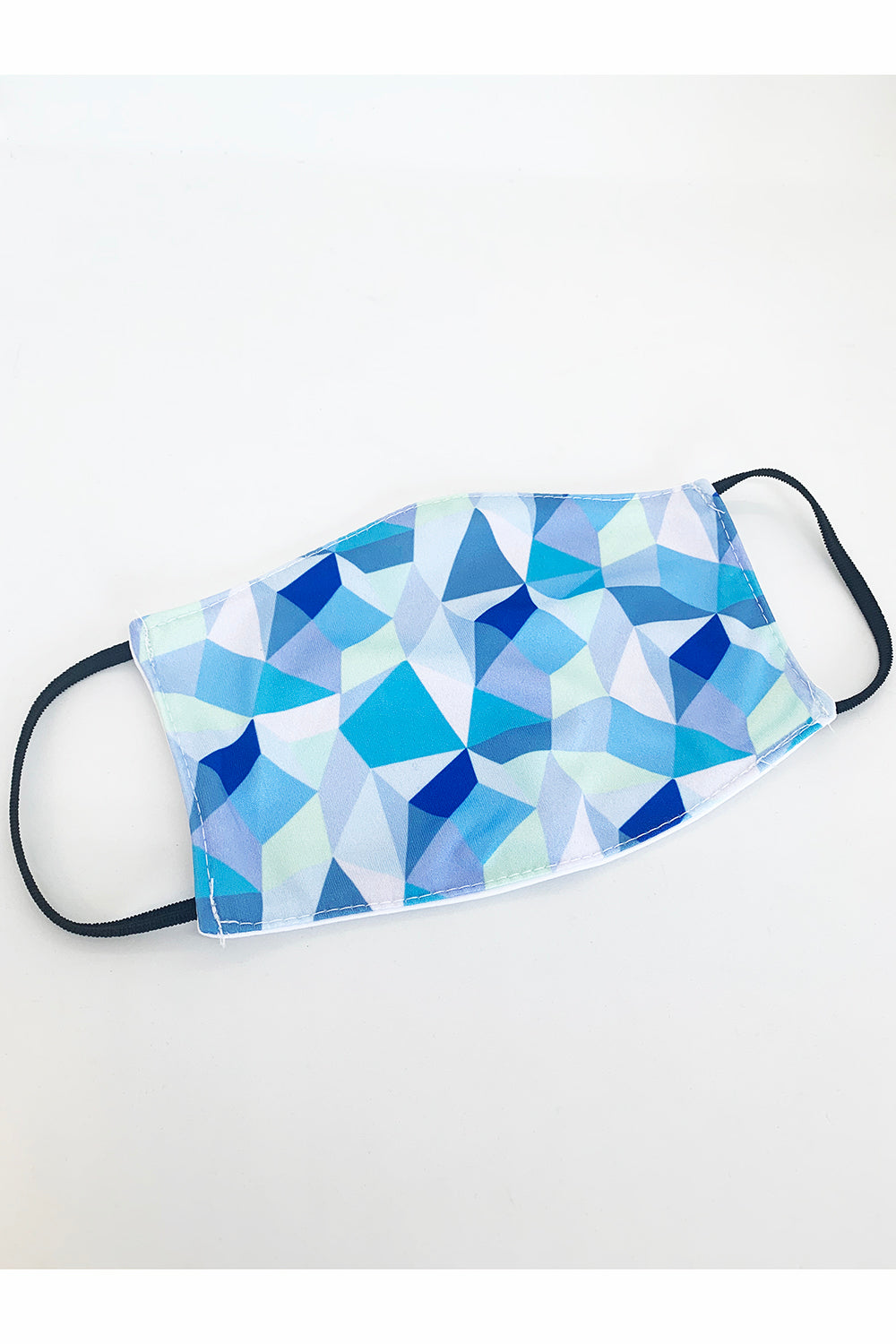 Face Mask - Blue Geometric