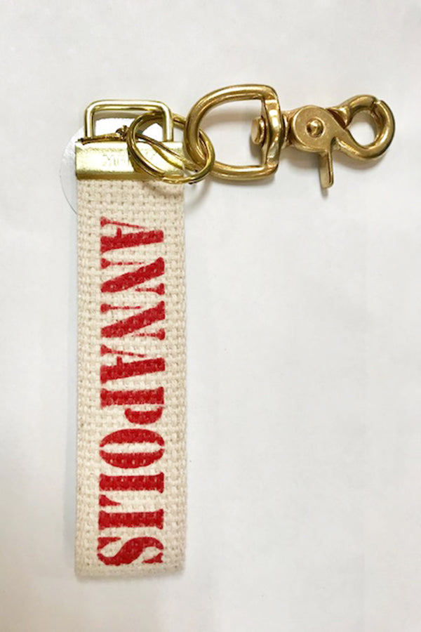 Handmade Keychain - Red Annapolis