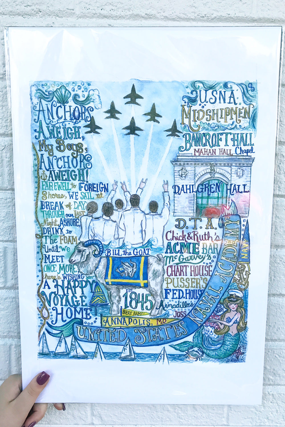 Unframed Collage - NEW Naval Academy