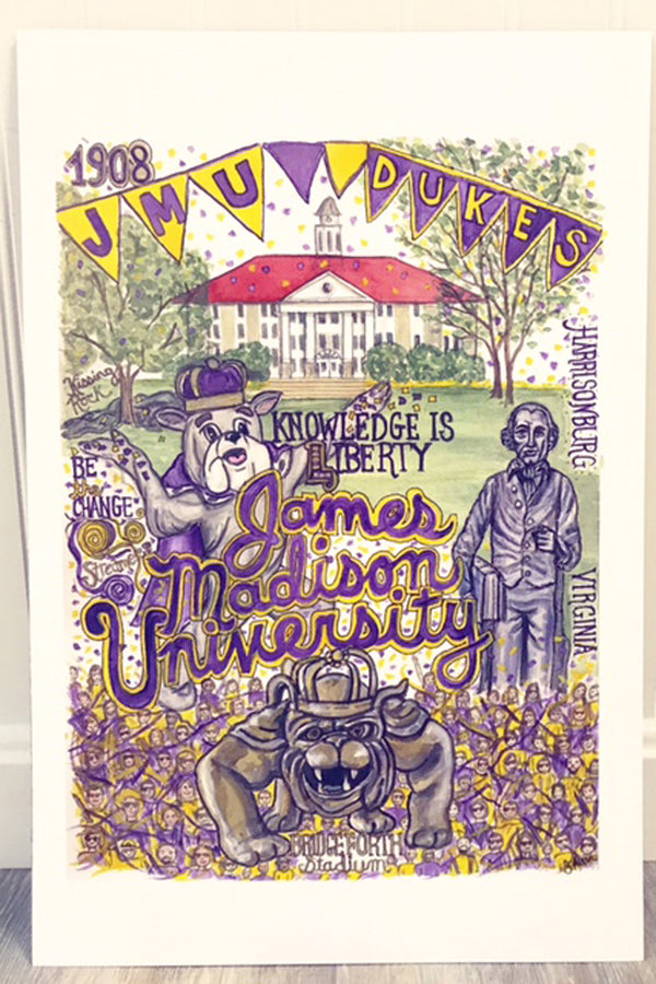 Unframed Collage - James Madison University