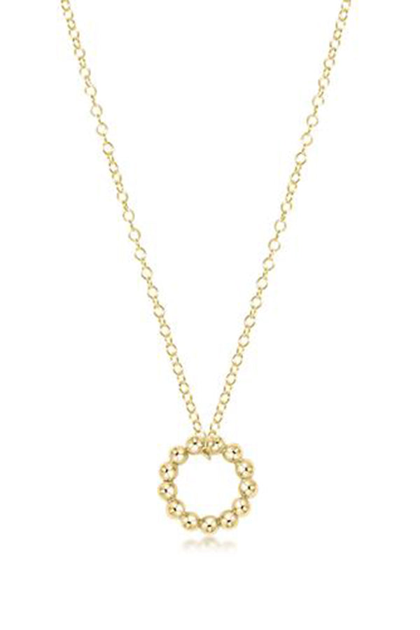 EN Classic Beaded Halo Necklace - Gold