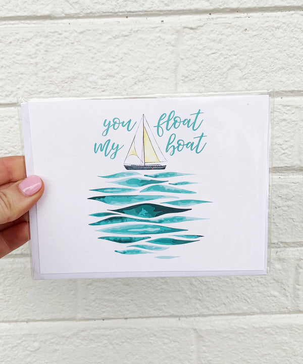 Valentine's Day Card - Float Boat