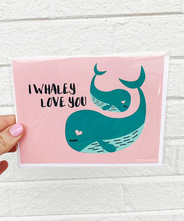 Valentine's Day Card - Whale