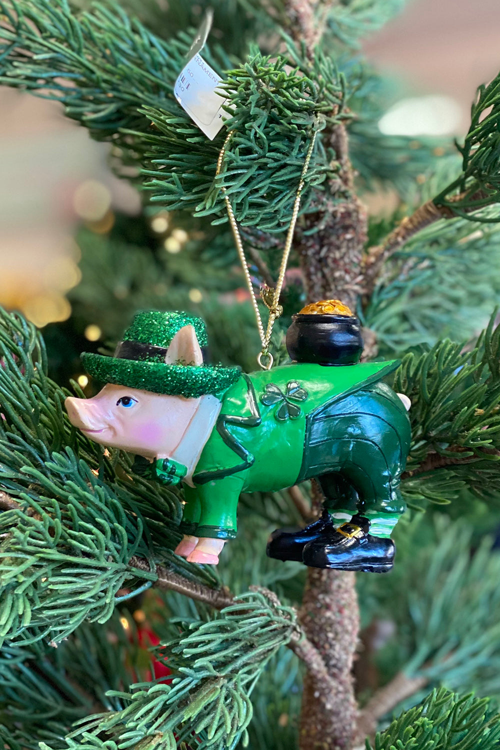 Resin Ornament - Irish Pig