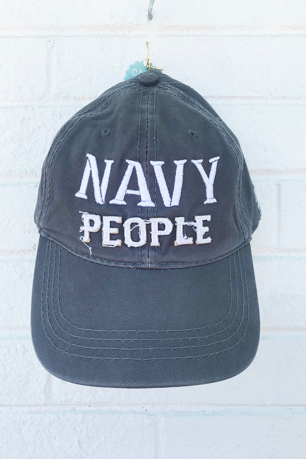 Adjustable Hat - Navy People *Whims Exclusive*