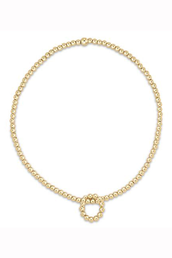 EN Classic Gold Bead Bracelet - Beaded Halo Charm