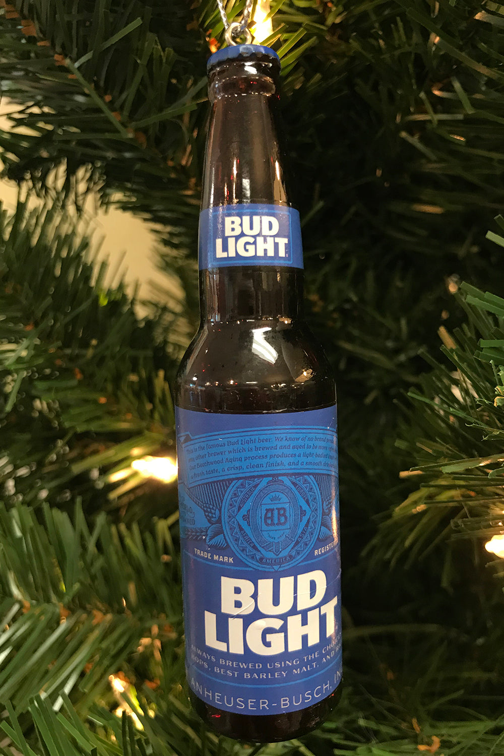 Funky Ornament - Plastic Bud Light Bottle
