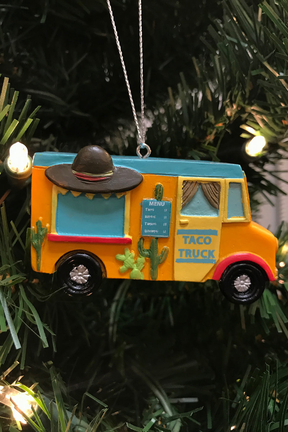 Resin Ornament - Taco Food Truck