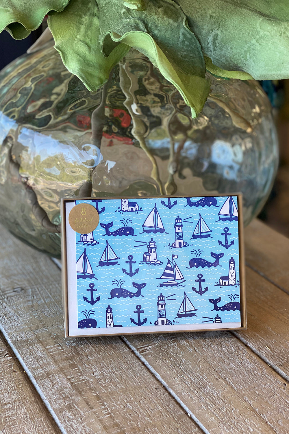 Boxed Notecards - Whales & Sails