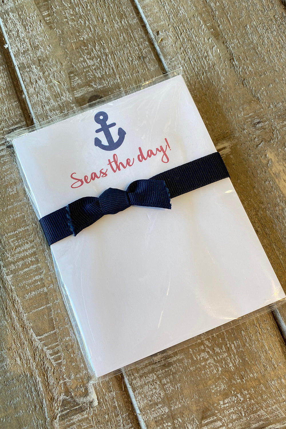 Mini Notepad - Seas The Day Anchor