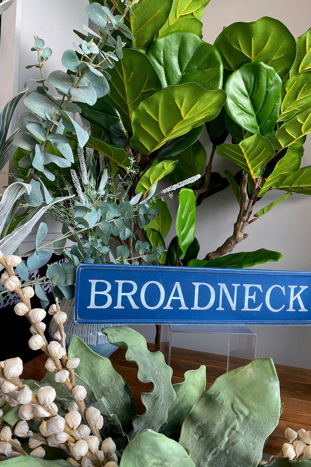 Local Wooden Places Sign - Broadneck