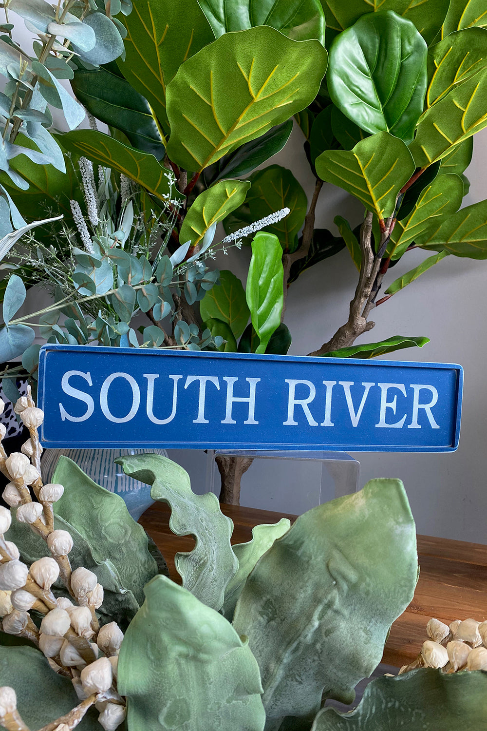 Local Places Wooden Sign - South River