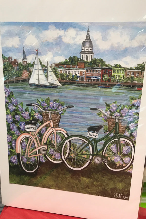Unframed Collage - Annapolis Eastport Bikes