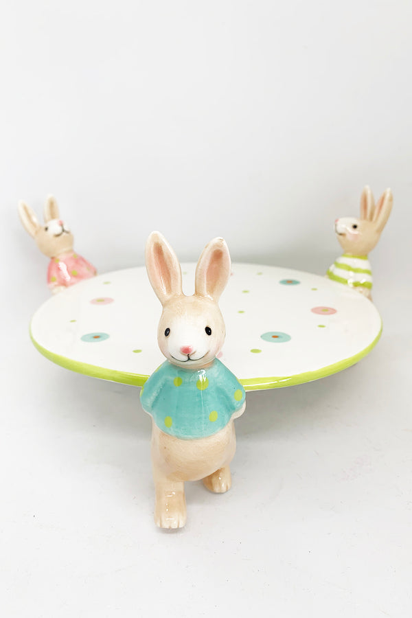 Bunnies Holding Plate