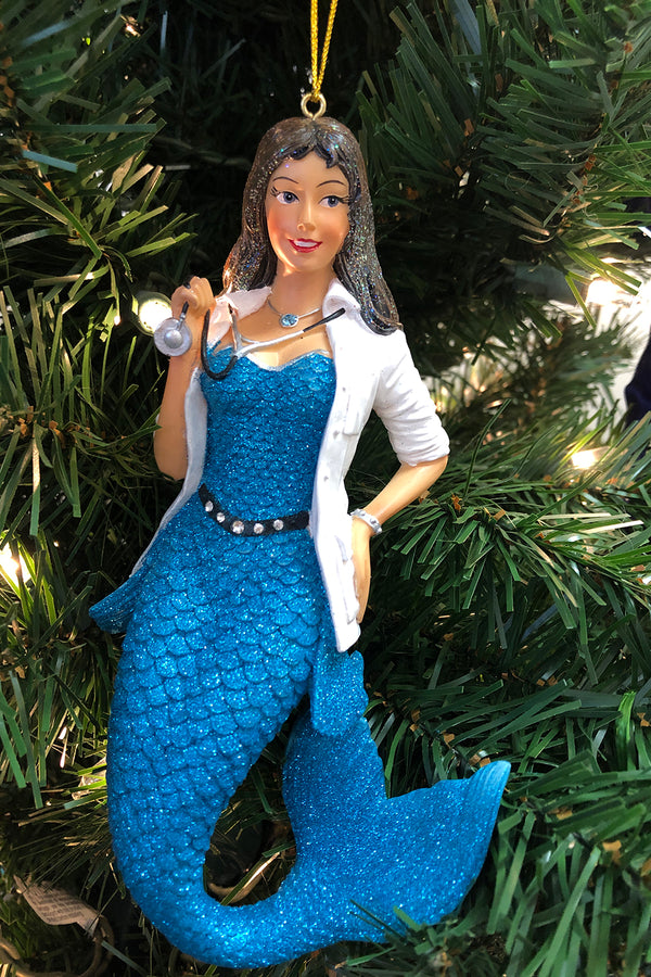DCD Mermaid Ornament - Dr. Stethony Scope