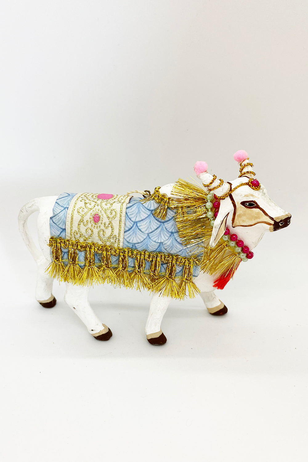 Funky Ornament - Sacred White Cow