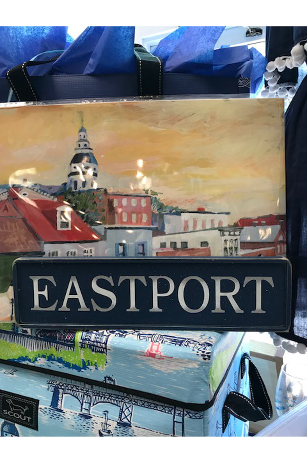 Local Wooden Places Sign - Eastport on Navy