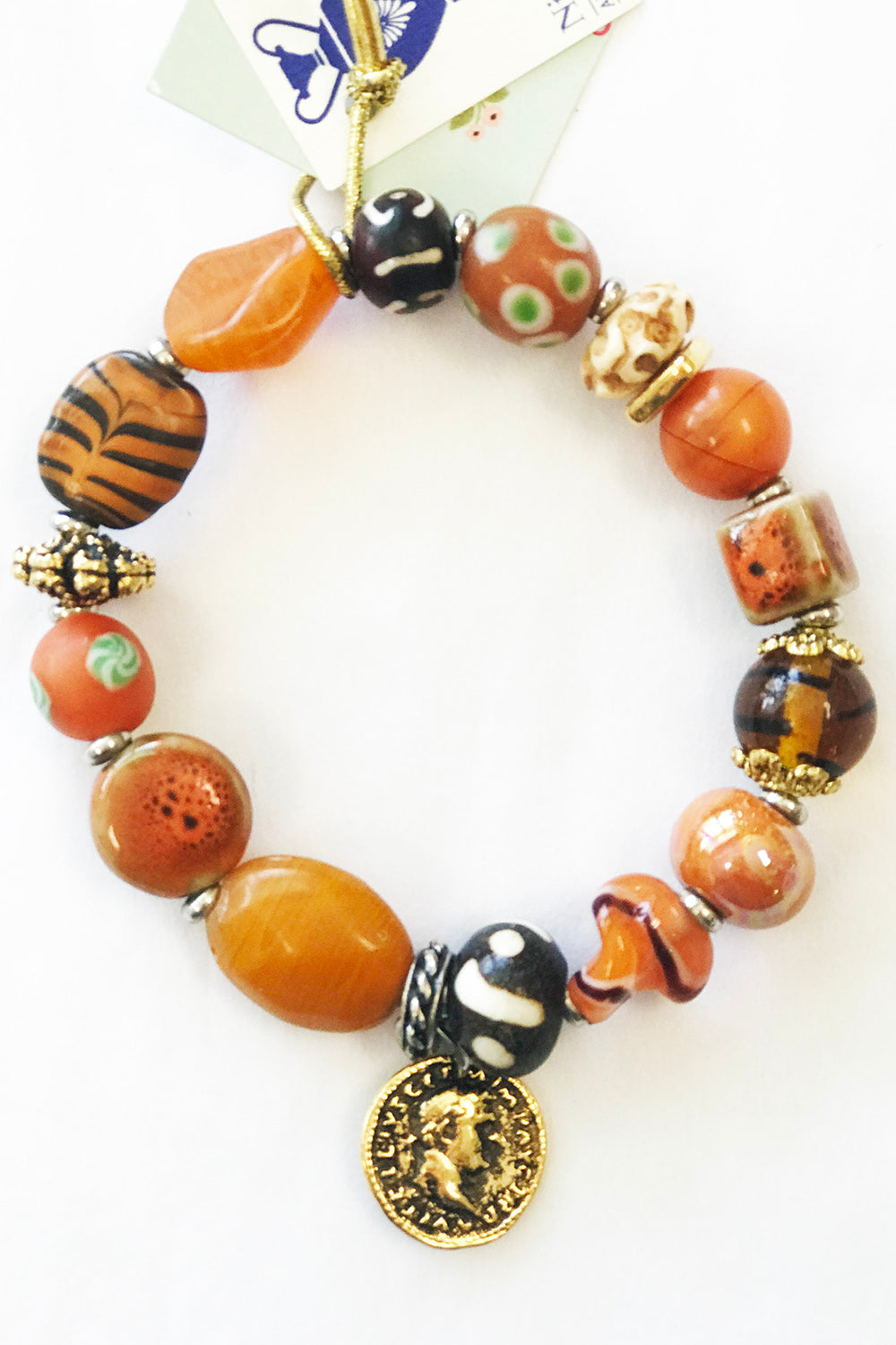 Niki Bracelet - Orange Tiger