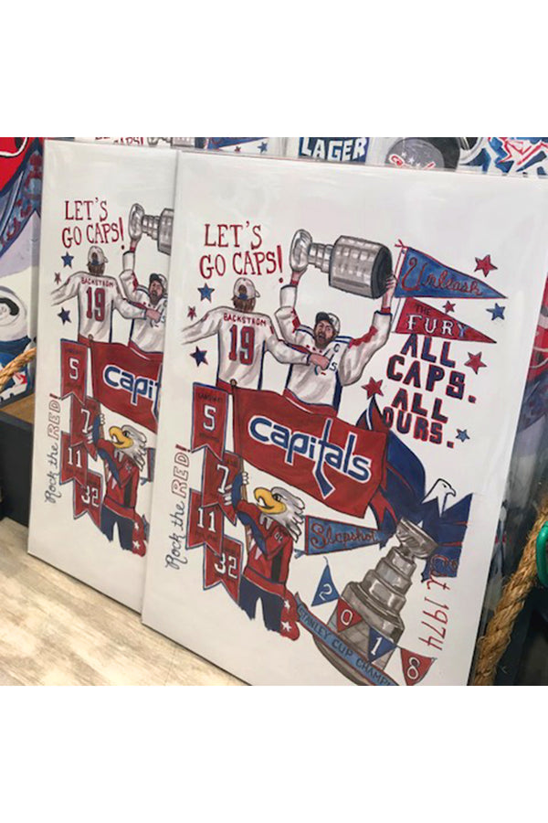 Unframed Collage - Washington, DC Capitals
