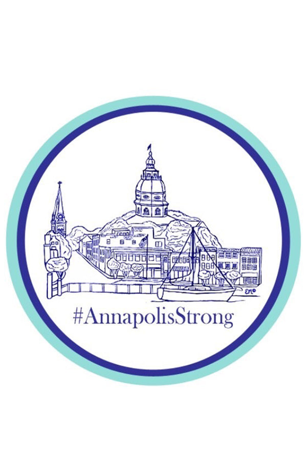 EM Circle Sticker - Annapolis Strong