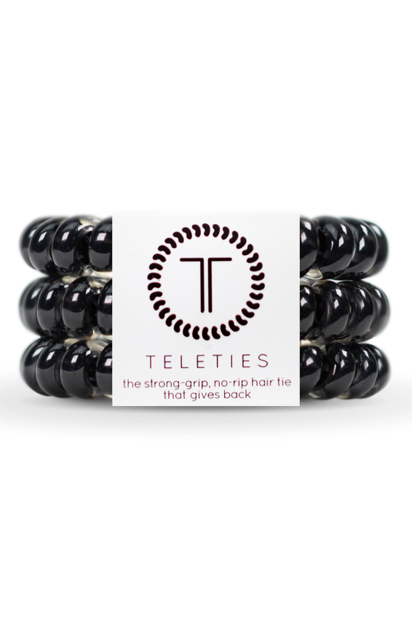 Teleties Hair Ties - Jet Black