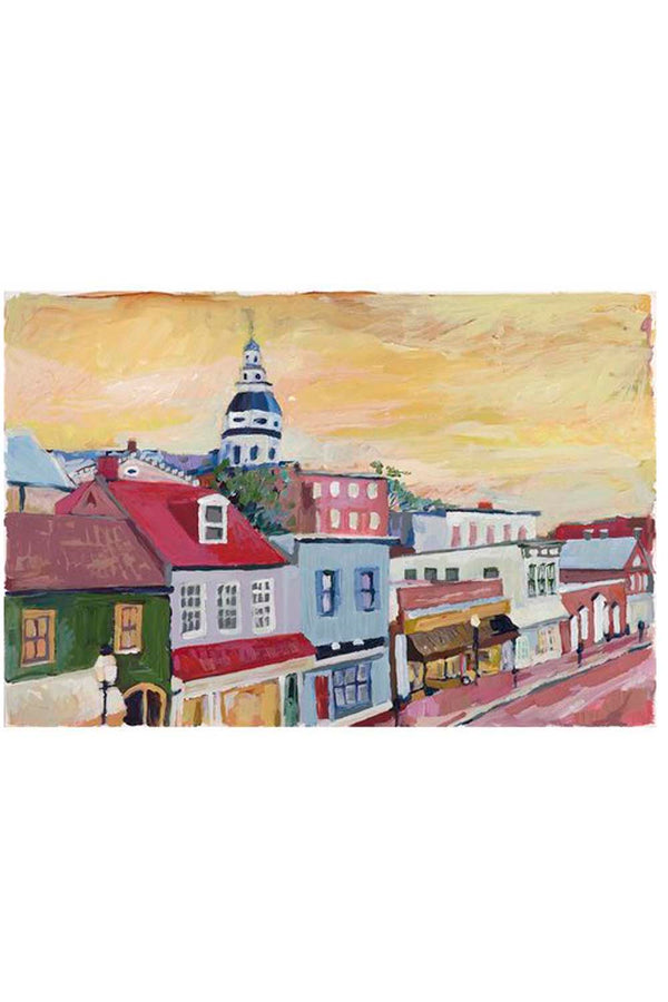 Kim Hovell Matted Print - Main Street Annapolis