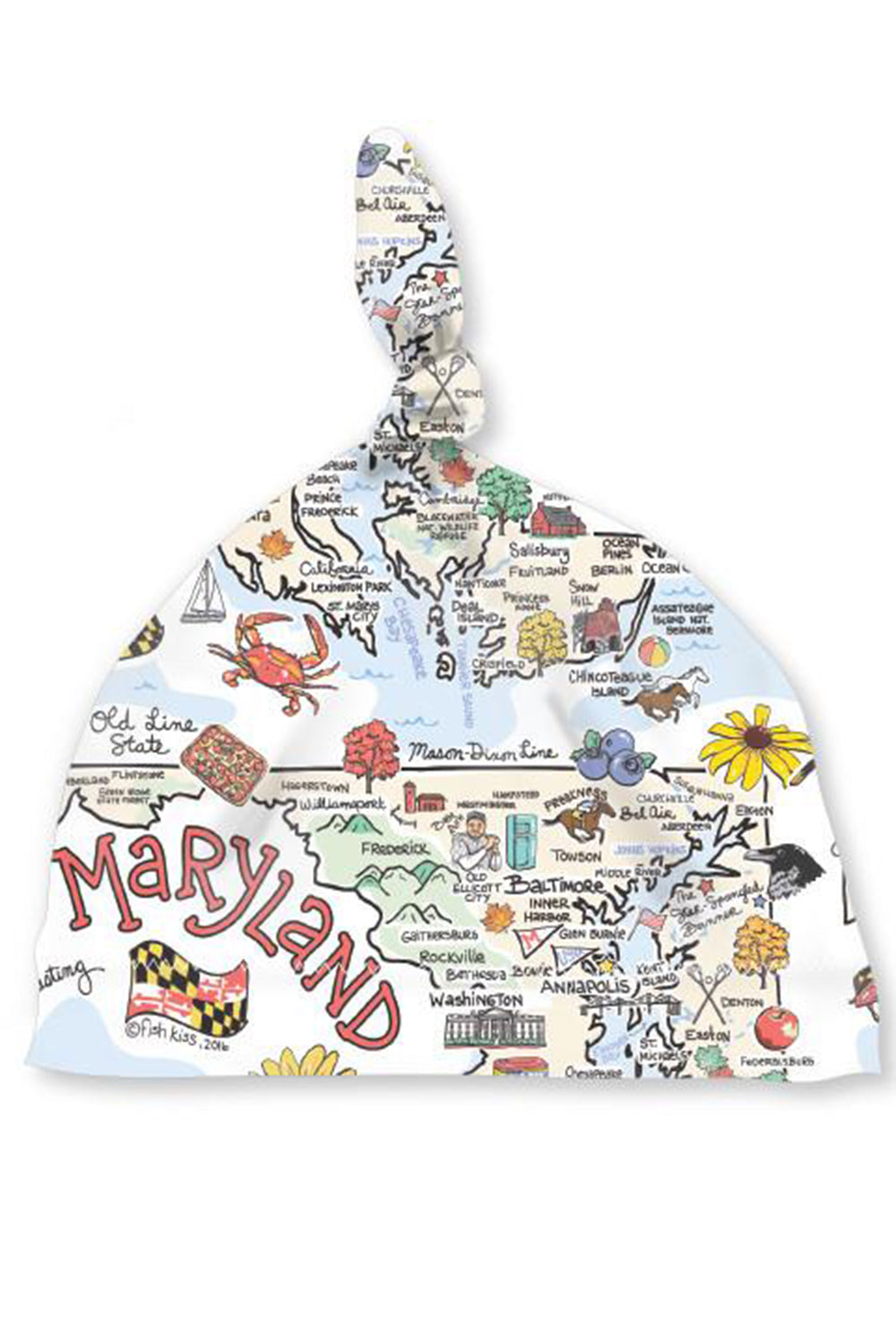Baby Hat - Maryland Map