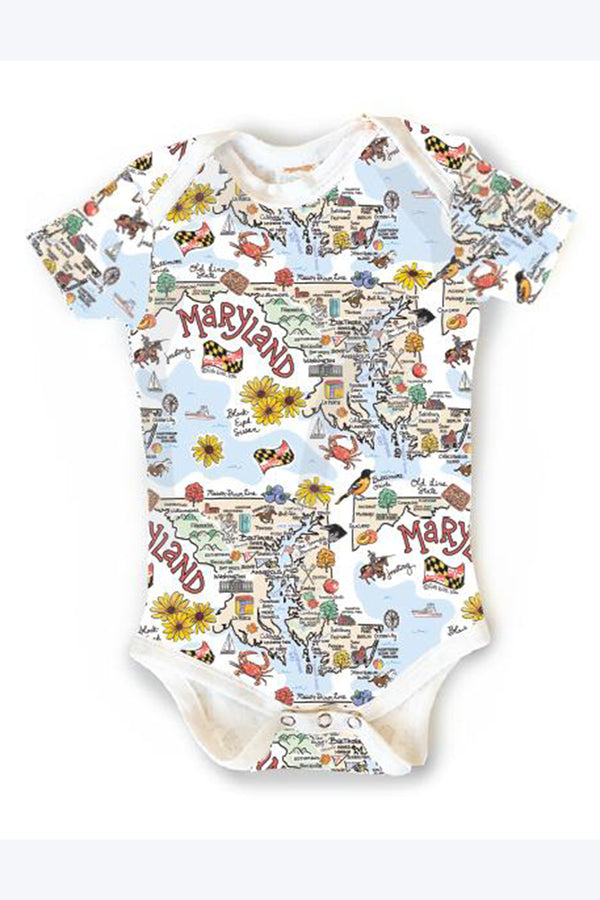 Baby Onesie - Maryland Map