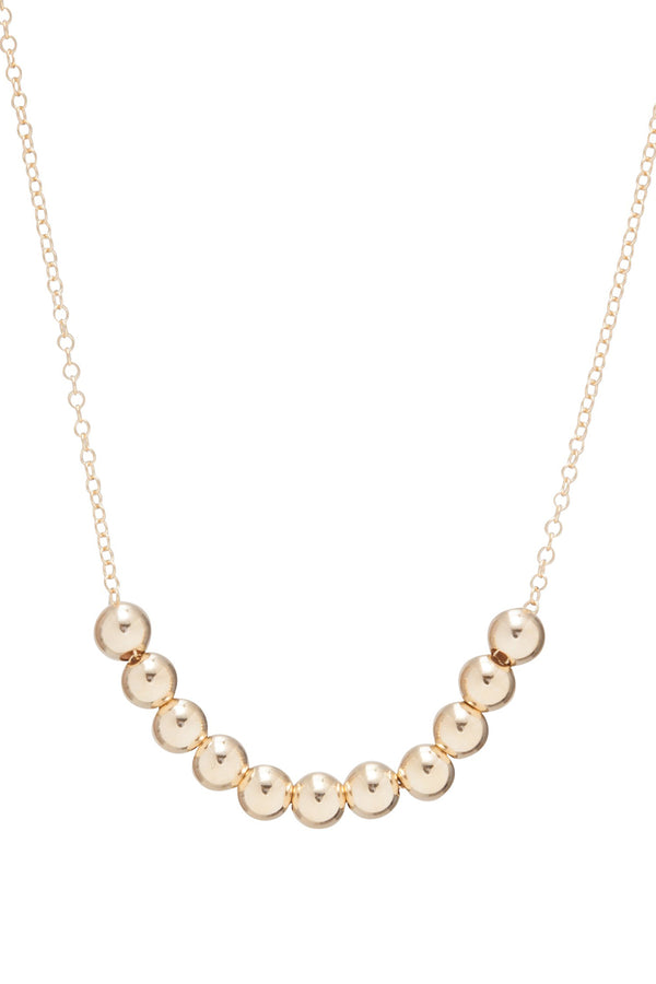 EN Classic Beaded Bliss Necklace - Gold