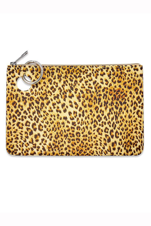 Silicone Pouch Large - Cheetah