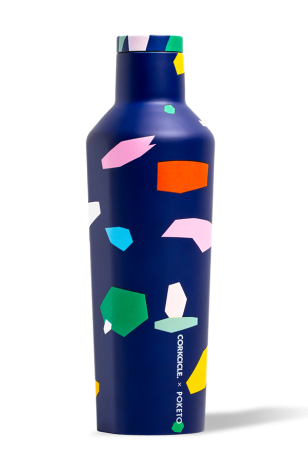 Modern Corkcicle Canteen - Blue Confetti