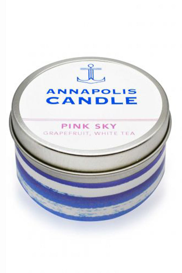 *NEW* Tin Annapolis Candle - Pink Sky