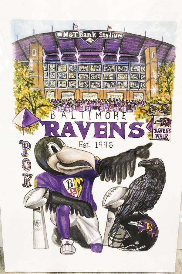 Unframed Collage - Baltimore Ravens Football