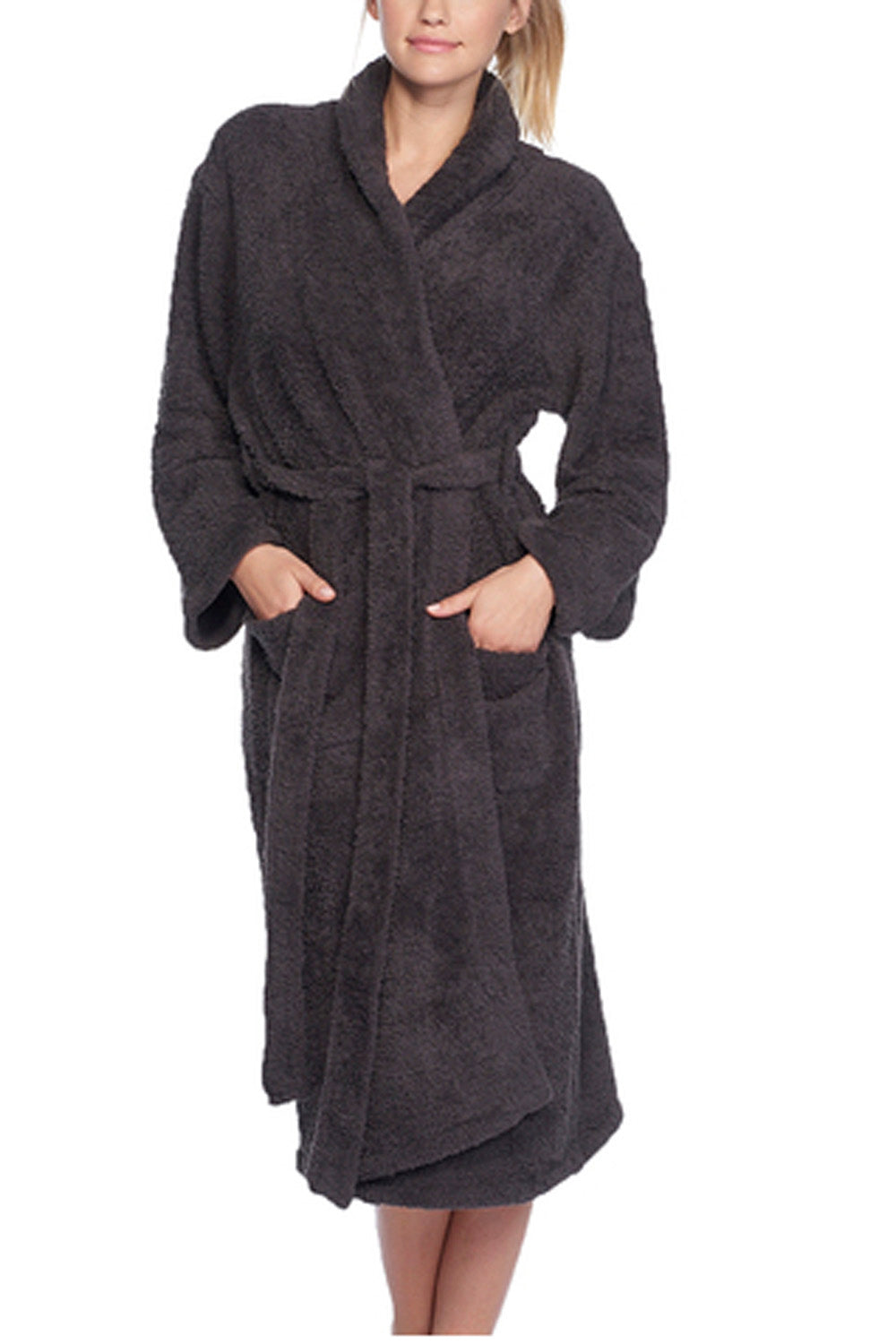 CozyChic Bath Robe - Carbon Dark Gray