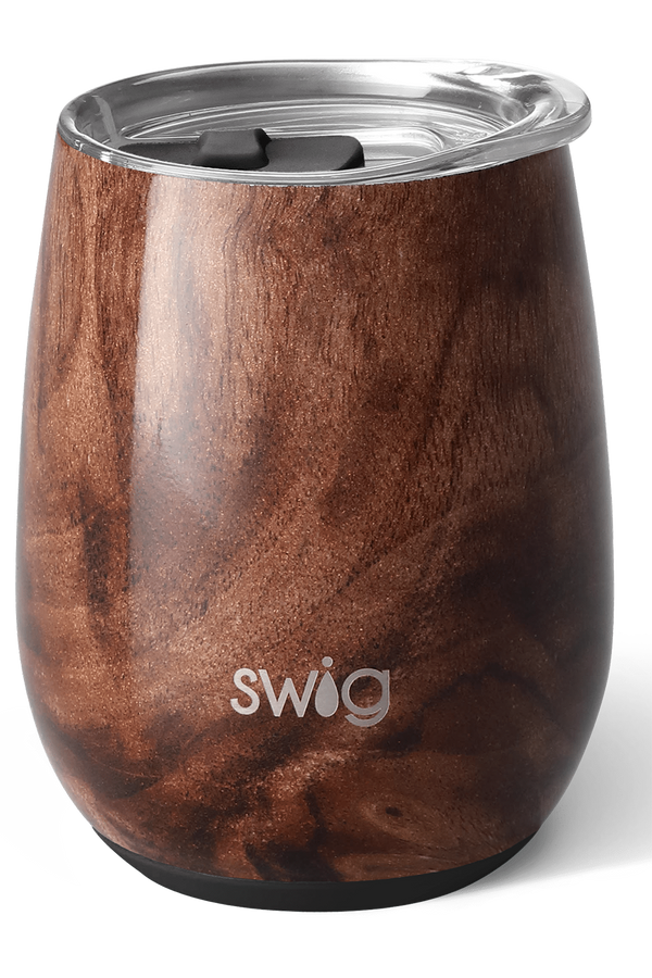Modern Stemless Wine Tumbler - Black Walnut