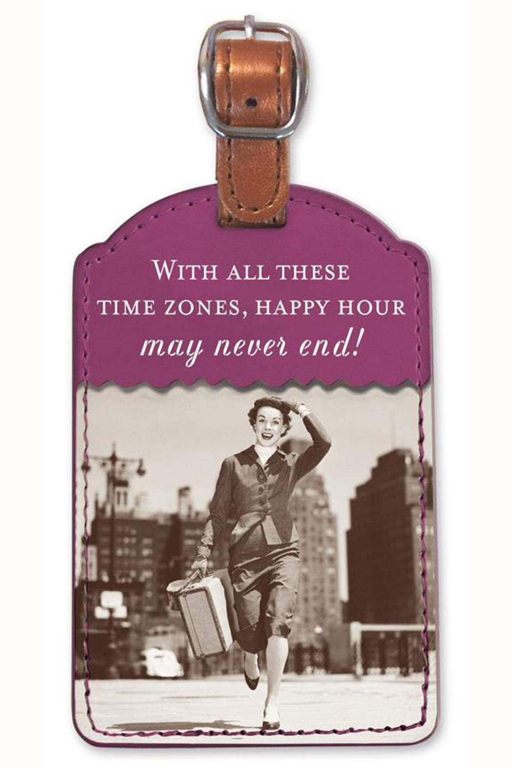 Fun Luggage Tag - Time Zones
