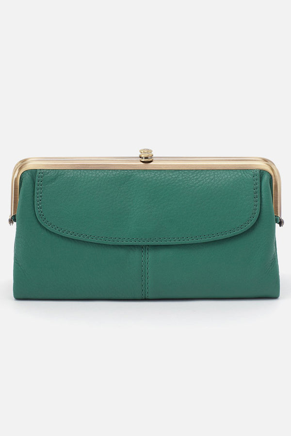 Lauren Wallet - Velvet Hide Green Garden