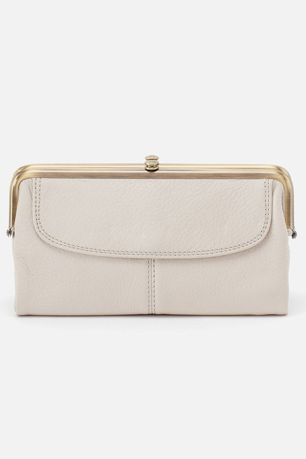Lauren Wallet - Velvet Hide Powder White