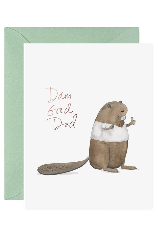 FRAN Father's Day Greeting Card - Dam Good Dad